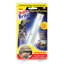 Motion Brite  As Seen On TV  White  Battery Powered  Motion Sensor Task Light