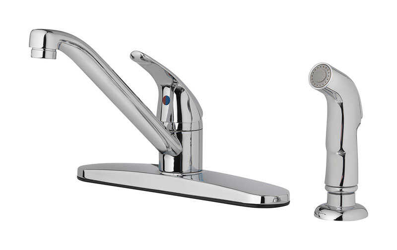 OakBrook  Essentials  Single Handle Kitchen deck mount spray  Polished Chrome  Kitchen Faucet  Side