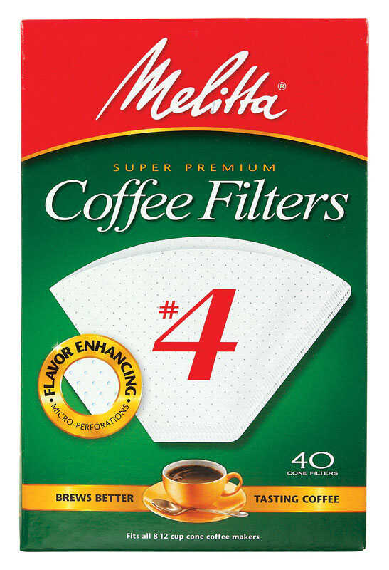 Melitta  No. 4  12 cups Cone  Coffee Filter  40 pk