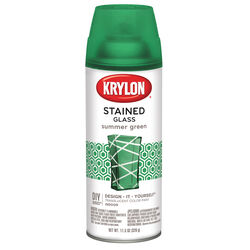 Krylon  Stained Glass  Summer Green  Spray Paint  11.5 oz.