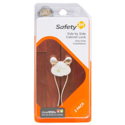 Safety 1st White Plastic Cabinet Flex Locks 2 pk