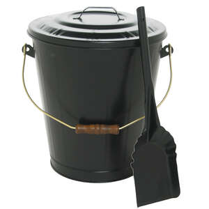 Lasting Traditions  Black  Powder Coated  Steel  Ash Container and Shovel Set