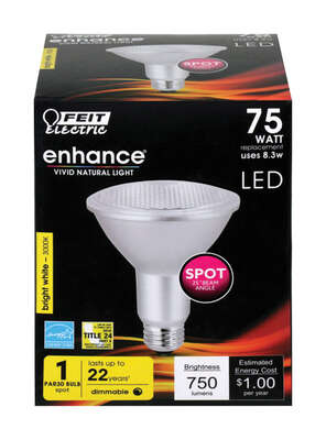 FEIT Electric  Enhance  PAR30  E26 (Medium)  LED Bulb  Bright White  75 Watt Equivalence 1 pk