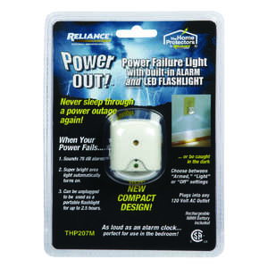 Reliance  Power Out  100 lumens White  LED  Flashlight