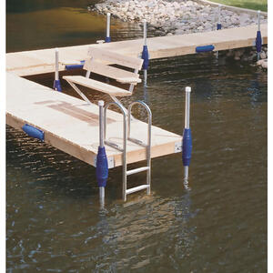 Tommy Docks  Silver  Aluminum  Dock Ladder
