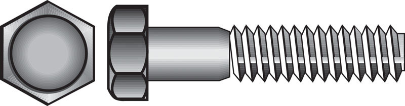 HILLMAN  3/8 in. Dia. x 1-1/2 in. L Zinc Plated  Steel  Hex Bolt  100 box