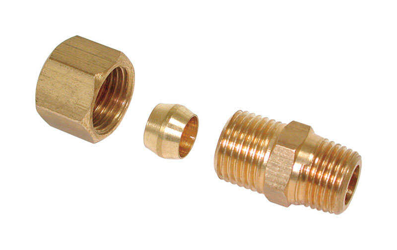 Dial  1/4 in. H x 1/8 in. W Coupling Union  Brass