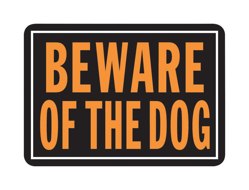 Hy-Ko  English  Beware of Dog  Sign  10 in. H x 14 in. W Aluminum