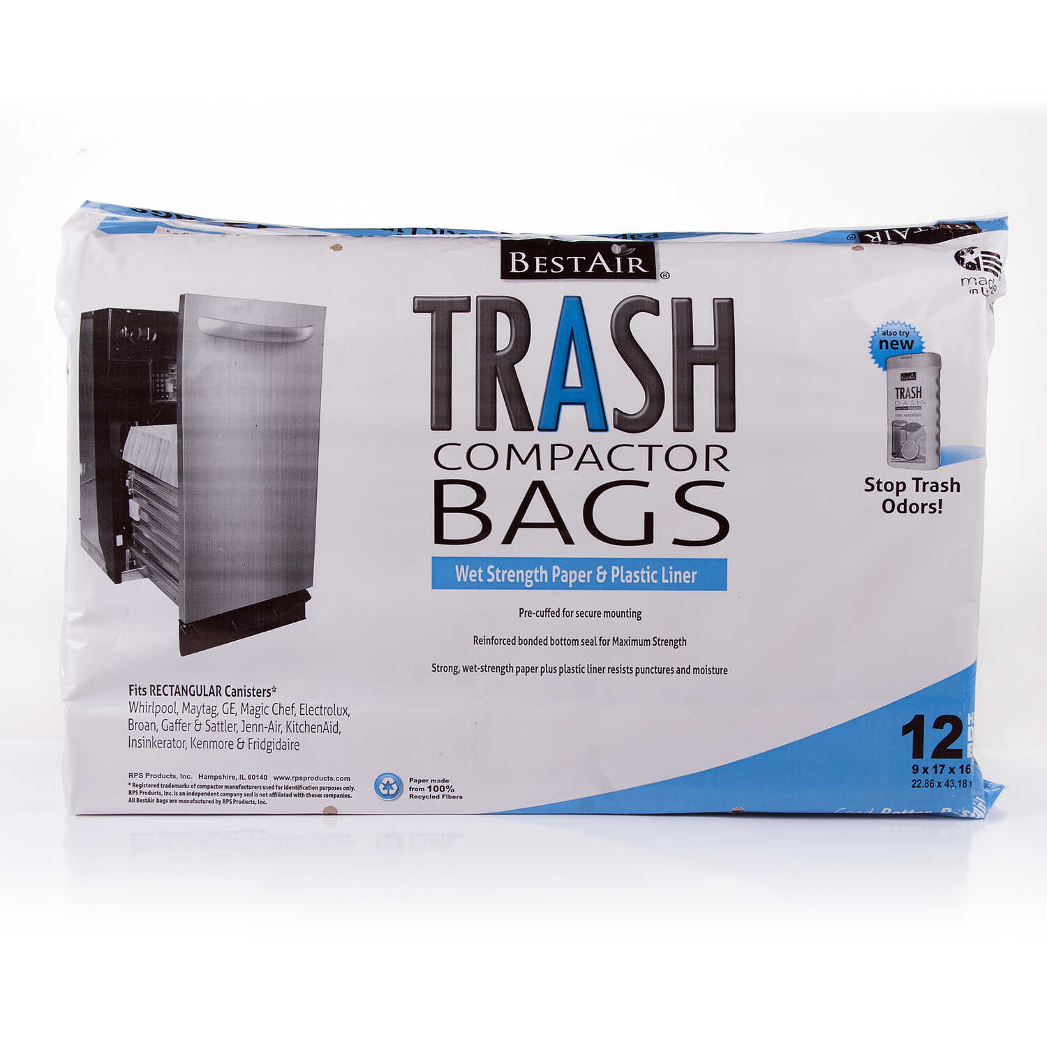 BestAir  10 gal. Compactor Bags  Flat Top  12 pk false