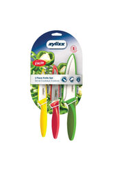 Zyliss  Green/Red/Yellow  Stainless Steel  Knife Set