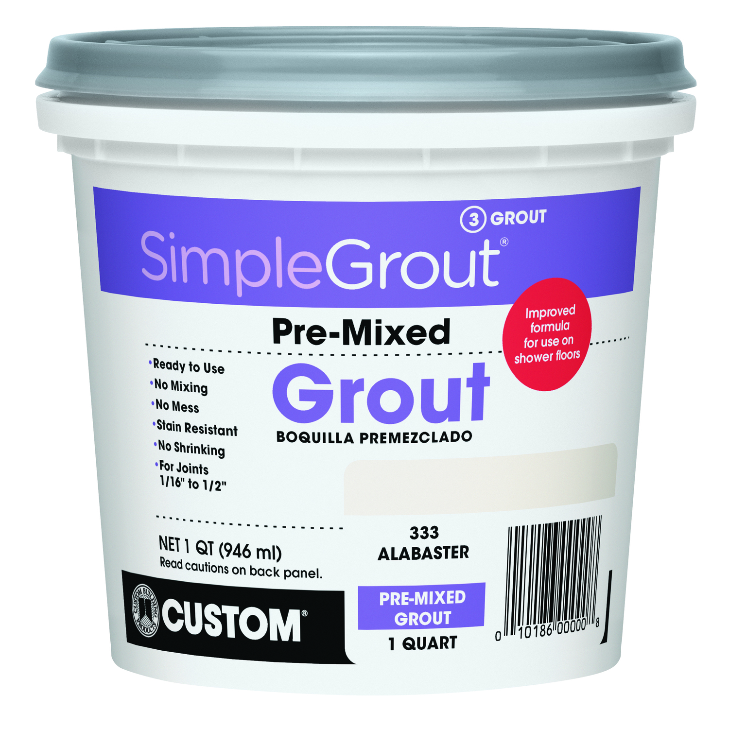Custom Building Products  SimpleGrout  Indoor  Alabaster  Grout  1 qt.