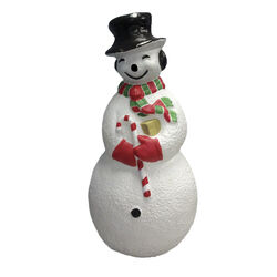 Union Products Red/White Snowman Blow Mold Christmas Decoration