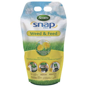 Scotts  Snap Pac  25-0-4  Weed and Feed  For All Grass Types