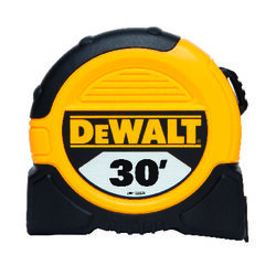 DeWalt  30 ft. L x 1.12 in. W Tape Measure  Black/Yellow  1 pk