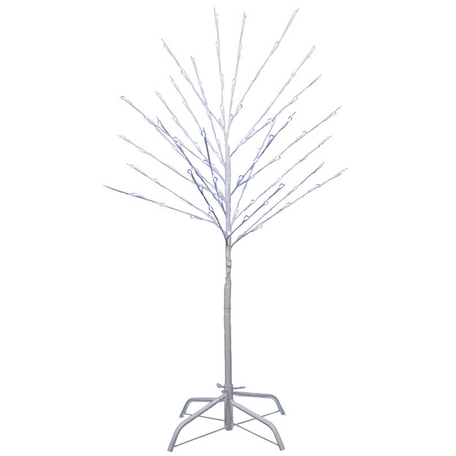 Sienna  LED White Branch Christmas Tree  Silhouette  White  1 pk Metal