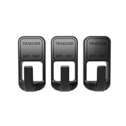 Traeger Stainless Steel Black Magnetic Hooks 3 pk