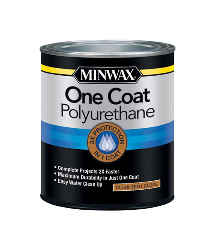 Minwax  One Coat  Transparent  Semi-Gloss  Polyurethane Stain  1 qt.
