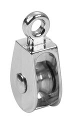Campbell Chain 1 in. Dia. Nickel Copper Ridge Eye Single Eye Pulley