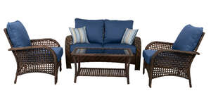 Living Accents  4 pc. Charleston  Brown  Blue  Dining Set