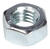 Hillman  M8-1.25 mm Zinc-Plated  Steel  Metric  Hex Nut  100 pk