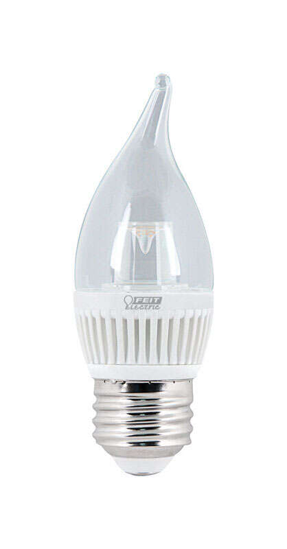FEIT Electric  3 watts CA10  LED Bulb  200 lumens Warm White  25 Watt Equivalence Chandelier