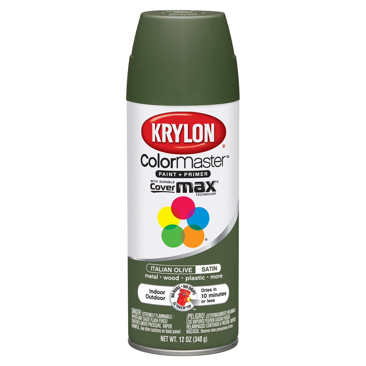 Krylon  ColorMaster  Satin  Italian Olive  Spray Paint  12 oz.