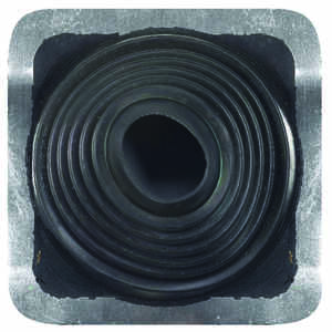 Oatey  Master Flash  4-3/4 in. H x 10 in. W x 10 in. L Black  Metal/Plastic/Rubber  Square  Roof Fla