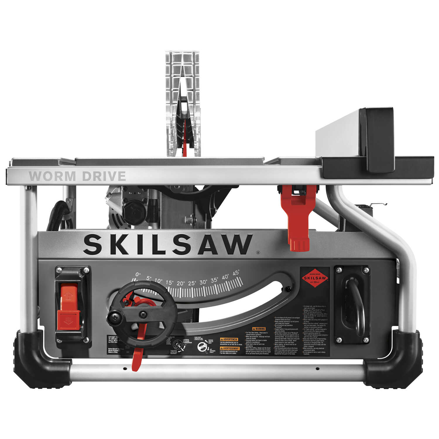 SKILSAW 10 in. Corded Worm Drive Table Saw 15 amps 120 volt 5 hp 5300 rpm