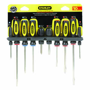 Stanley  10 pc. Screwdriver Set  Steel  5 in.