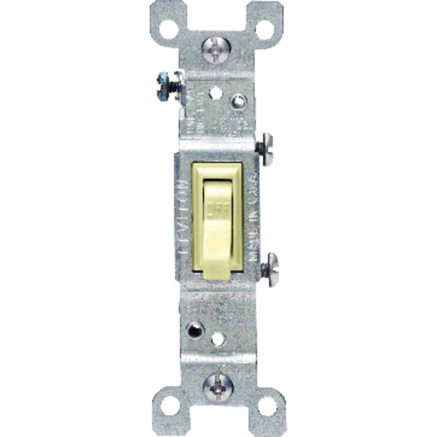 Leviton  15 amps Toggle  Switch  Ivory  15 amps 1 pk