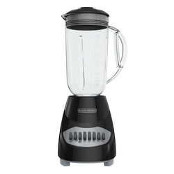 Black and Decker  Black  Metal/Plastic  Blender  40 oz. 10 speed