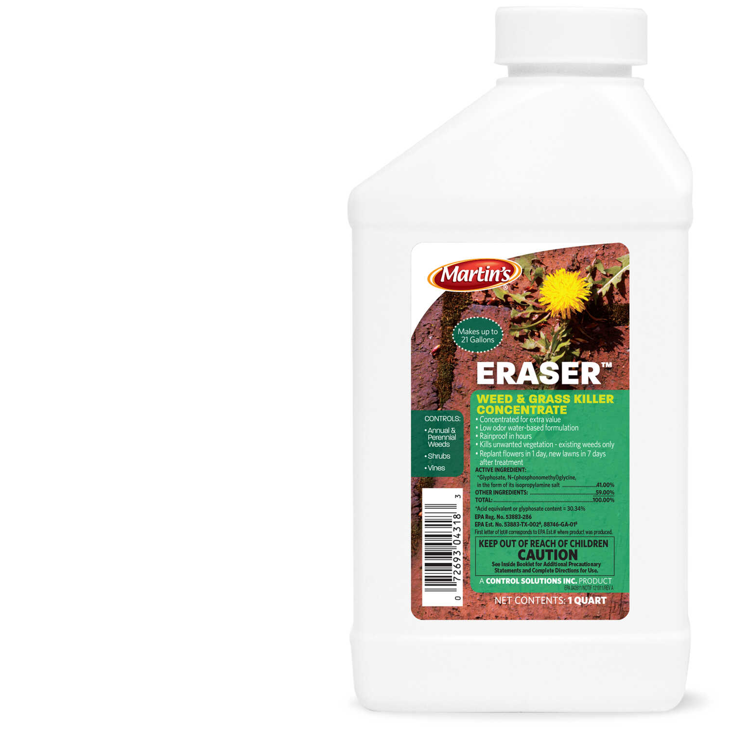 Martin's  Eraser  Weed and Grass Killer  Concentrate  1 qt.