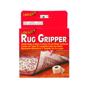 Lok-Lift  25 ft. L x 2.5 in. W x 2.5 in. W x 25 ft. L Indoor  Rug Gripper  Scrim  Indoor  Reversible
