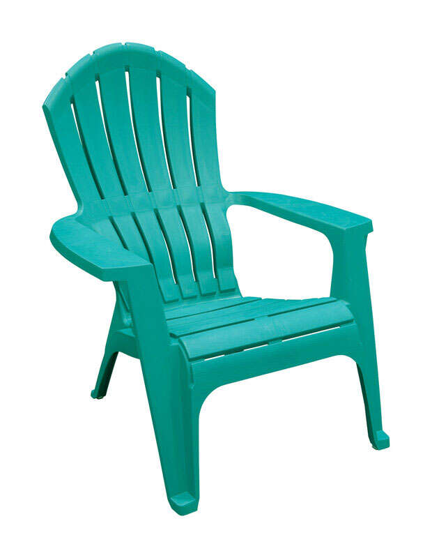 Adams  RealComfort  1 pc. Teal  Polypropylene Frame Adirondack Chair
