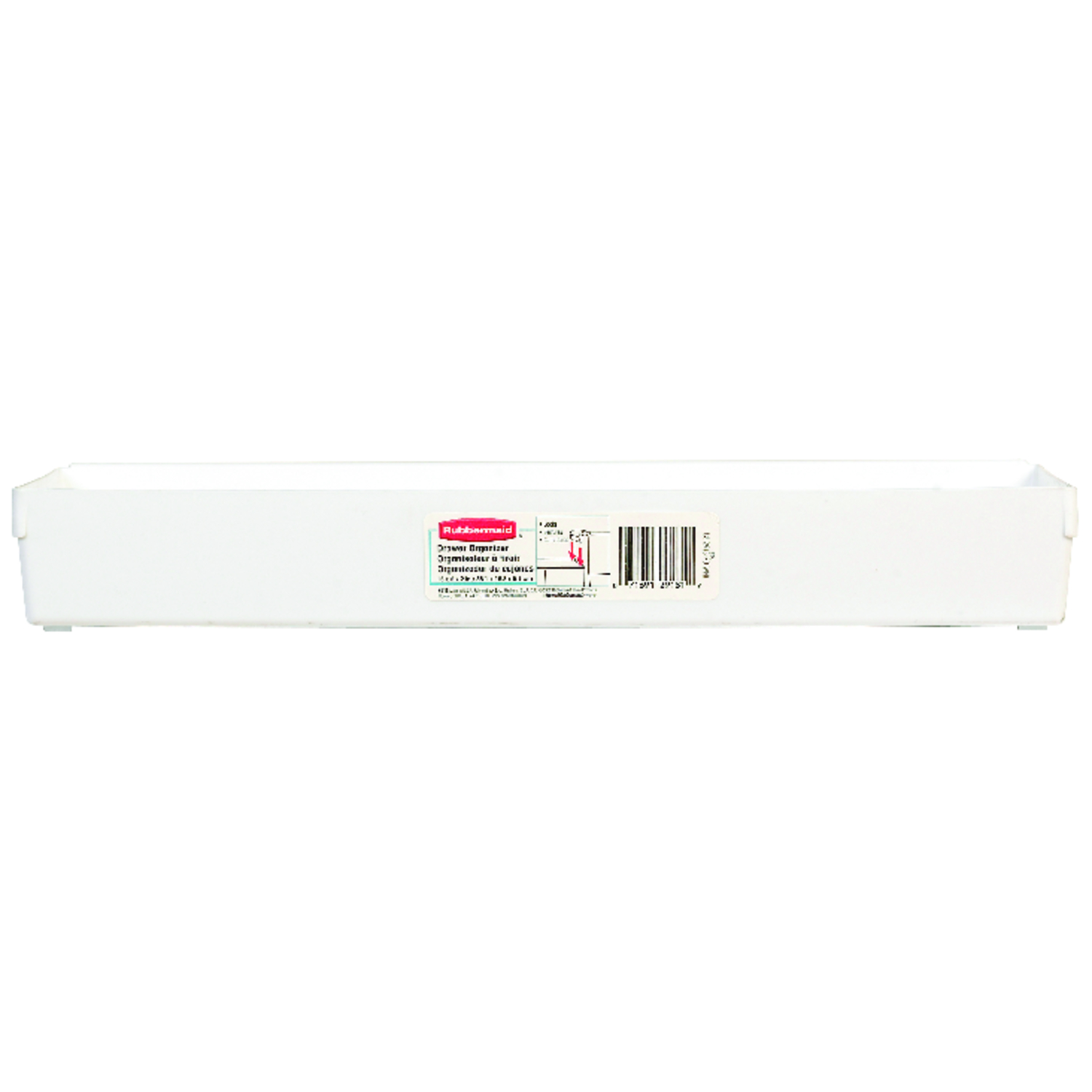 Rubbermaid  2 in. H x 6 in. W x 15 in. L White  Plastic  Drawer Organizer