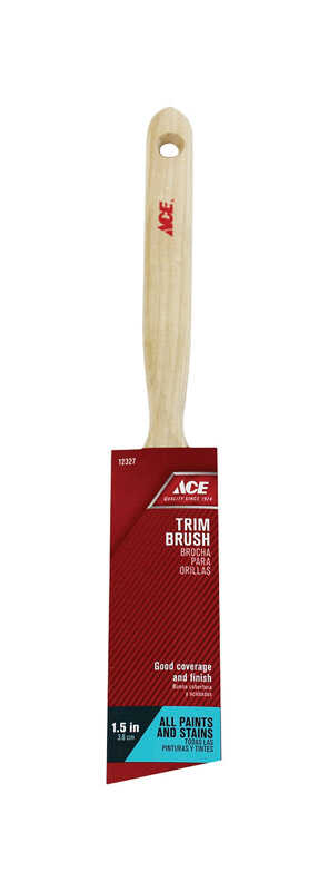 Ace  1-1/2 in. W Medium Stiff  Angle  Polyester  Trim Paint Brush