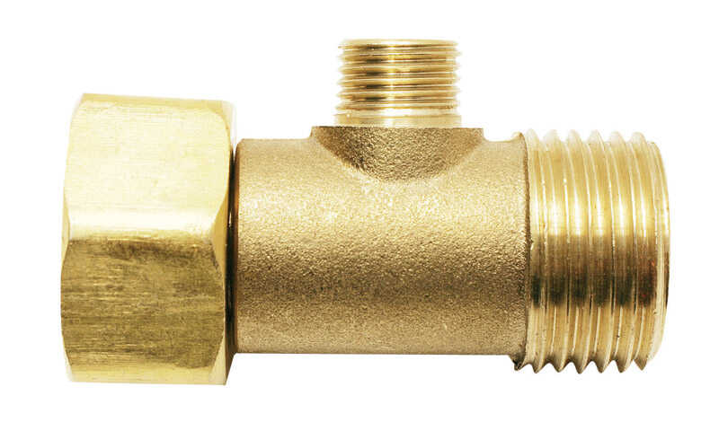 Ace  1/2 in. Female Compression Swivel   x 3/8 in. Dia. Male Compression  Brass  Add A Tee Adapter