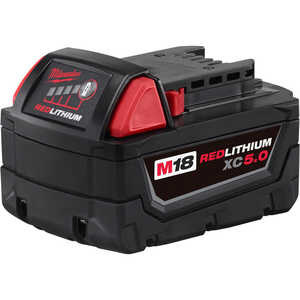 Milwaukee  M18 XC5.0  18 volt Lithium-Ion  Battery Pack  1 pc.