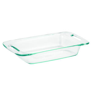 Pyrex  13-3/4 in. W x 7-3/4 in. L Oblong Dish  Clear