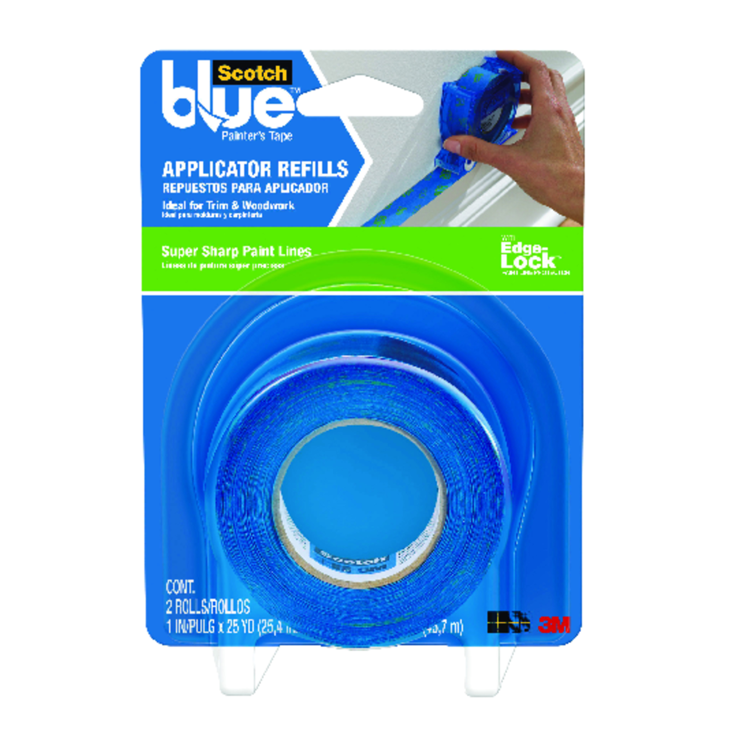 3M  Scotch Blue  1.5 in. W x 25 yd. L Medium Strength  2 pk Blue  Painter's Tape