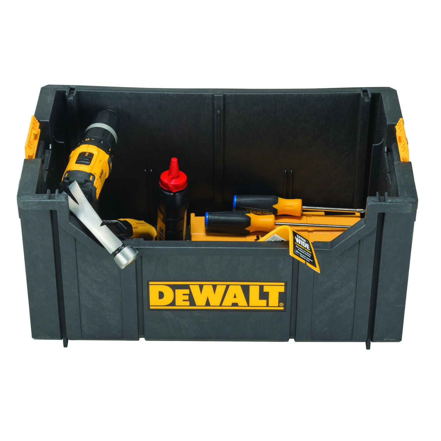 DeWalt  ToughSystem  21 in. Polypropylene  Tool Tote  12 in. W x 10 in. H Black