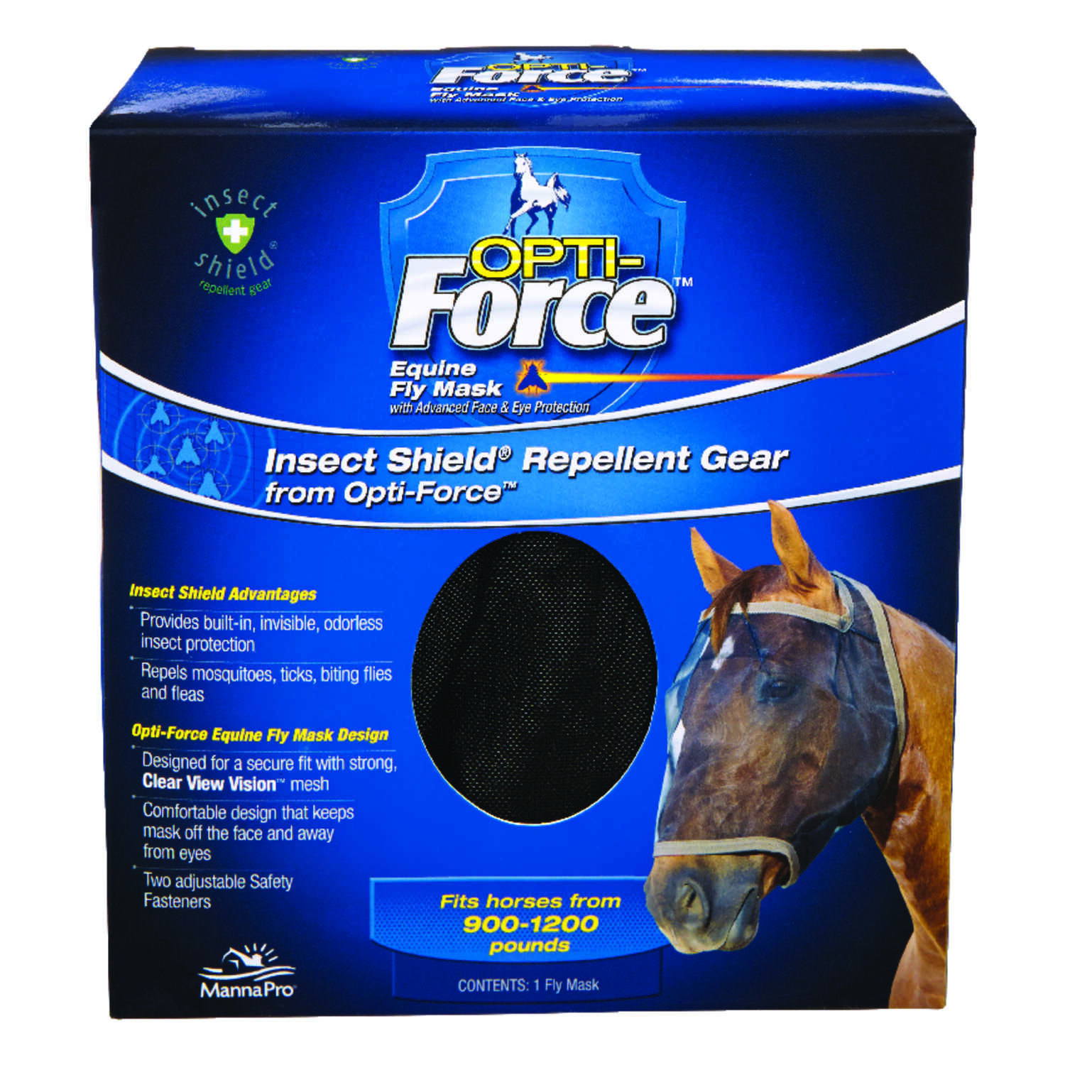 OPTI-Force  Mesh  Horse Fly Mask