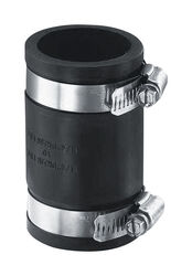 Fernco Schedule 40 2 in. Hub x 2 in. Dia. Hub PVC Flexible Coupling