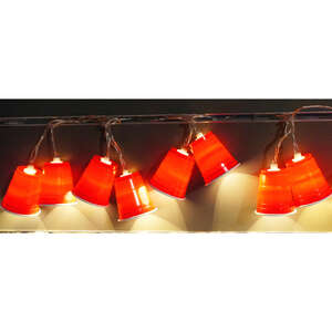 Summer Nights  Incandescent  Red Solo Cup  Light Set  Clear  7-1/2 ft. 10 lights