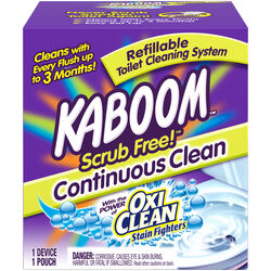 Kaboom  Scrub Free  Clean Scent Toilet Bowl Cleaner  1.38 oz. Tablet
