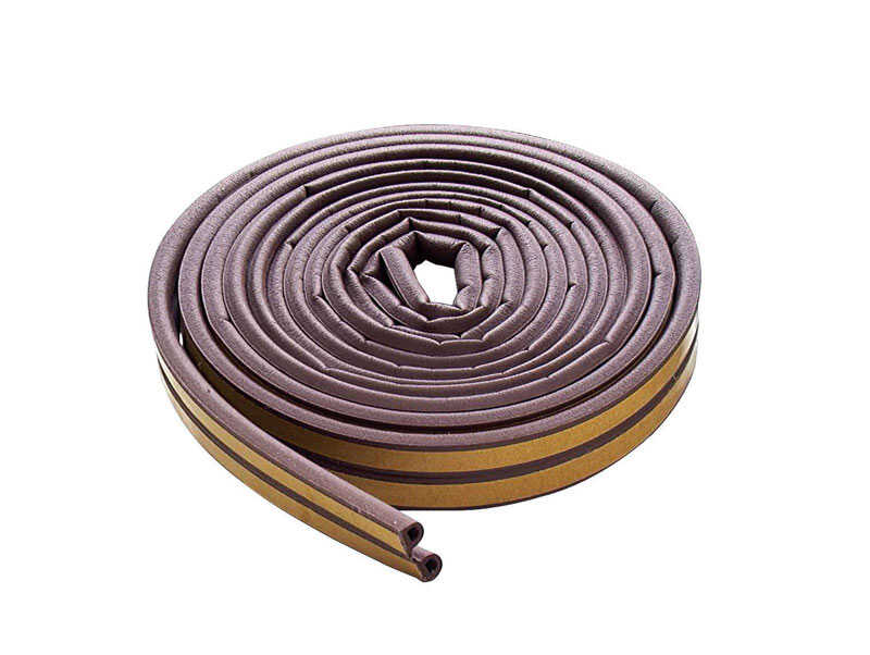M-D Building Products  Brown  Rubber  Weather Stripping  For Extreme Temperature 17 ft. L x 5/16 in.