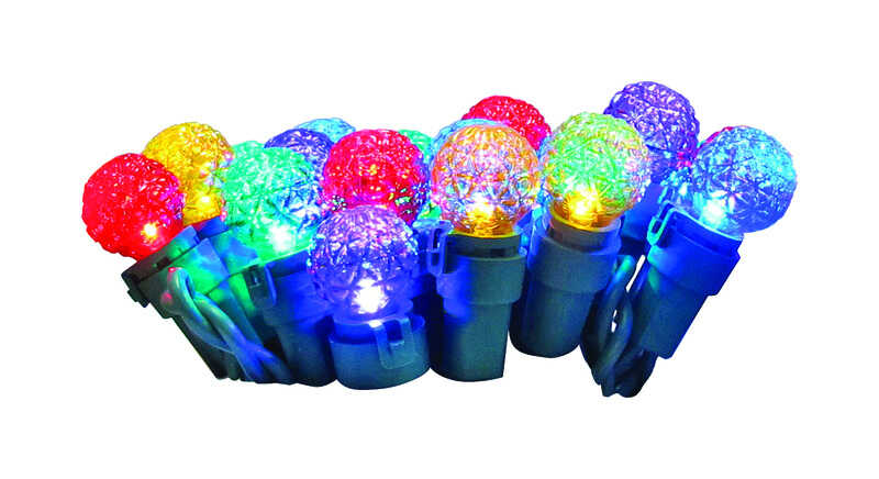 Celebrations  LED  Faceted Pearl  Light Set  Multicolored  16  50 lights