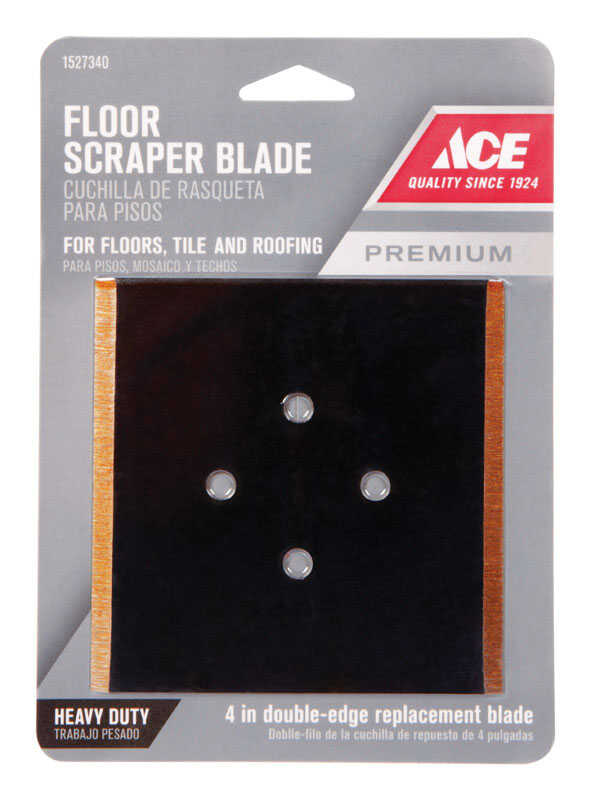 Ace  4 in. W Steel  Floor  Scraper Blade