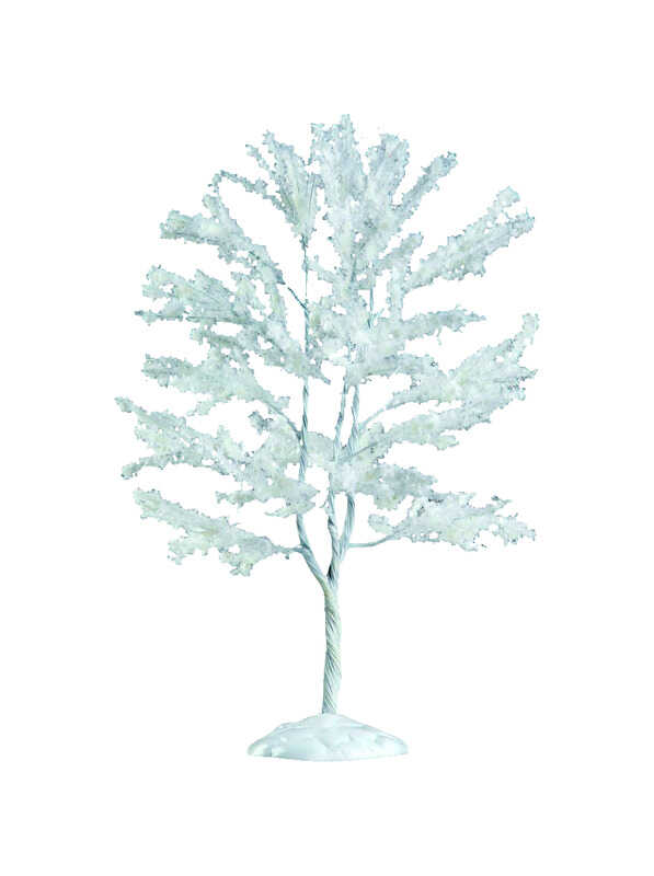 Lemax  Snowy Black Walnut Tree  Village Accessory  White  Resin  1 each
