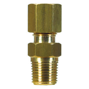 Ace  5/8 in. 1/2 in. Dia. Brass  Compression Connector
